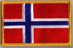 Norway Embroidered Flag Patch, style 08.